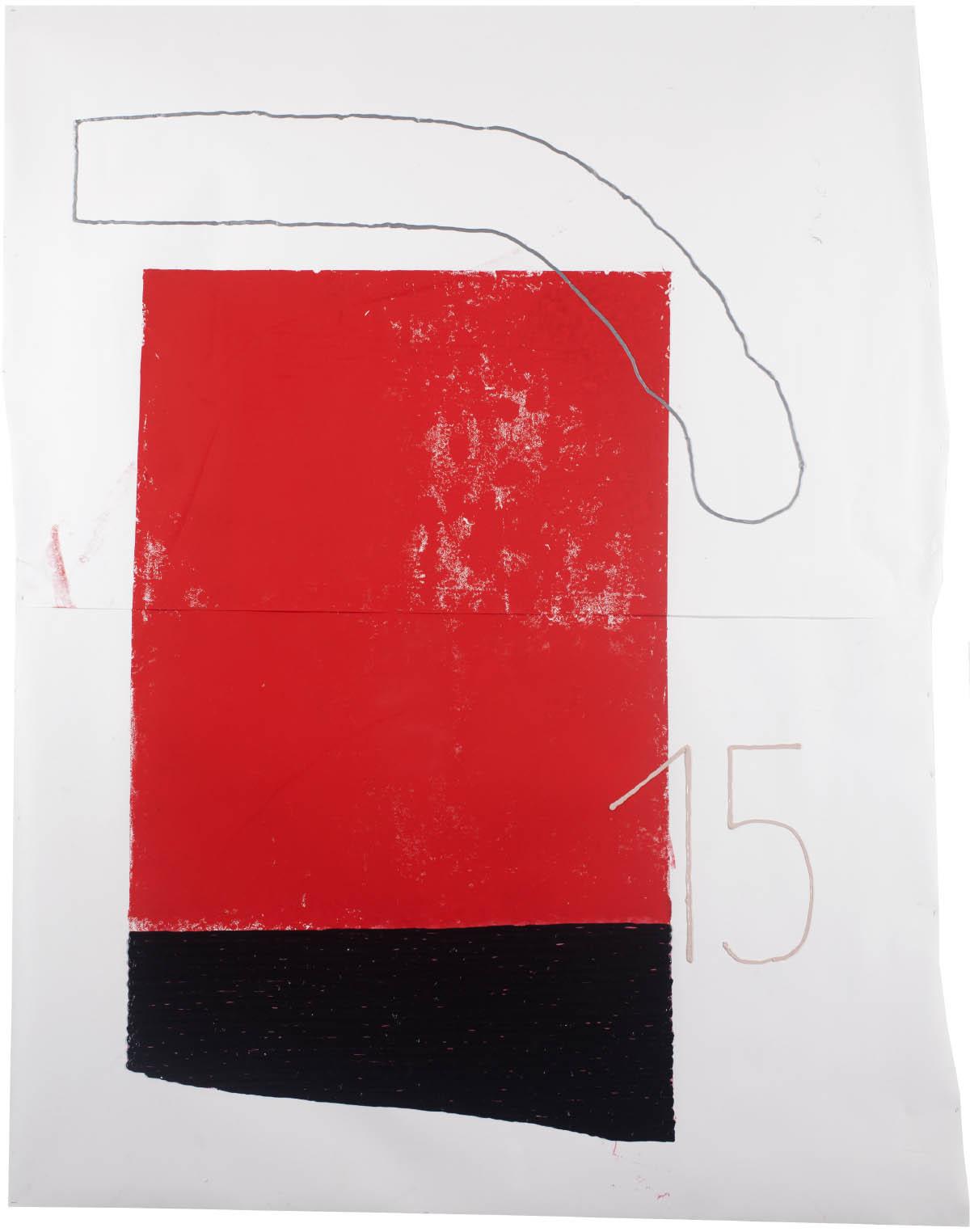 hmm sad, das mmh, 2015, silicon, linolprint on paper, 260cm x 210cm, © Bodo Schlack