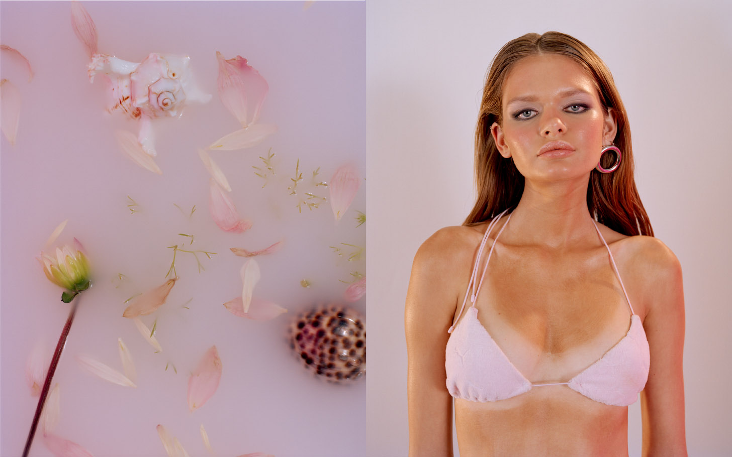 bikini top  FENTY X PUMA  earring  JW ANDERSON