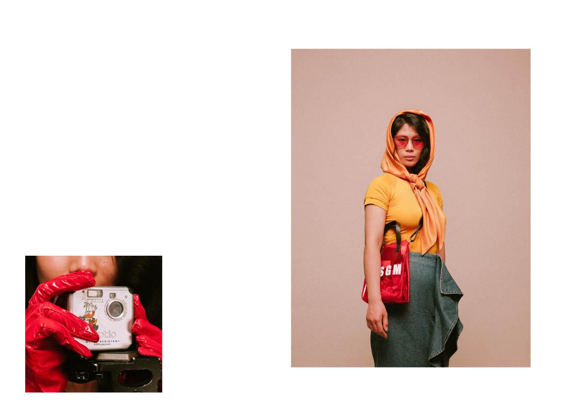 foulard  MILA SCHÖN  t-shirt  STYLIST'S OWN  skirt  LOST INK seen on ZALANDO.IT  bag  MSGM seen on ZALANDO.IT  sunglasses  RETROSUPERFUTURE