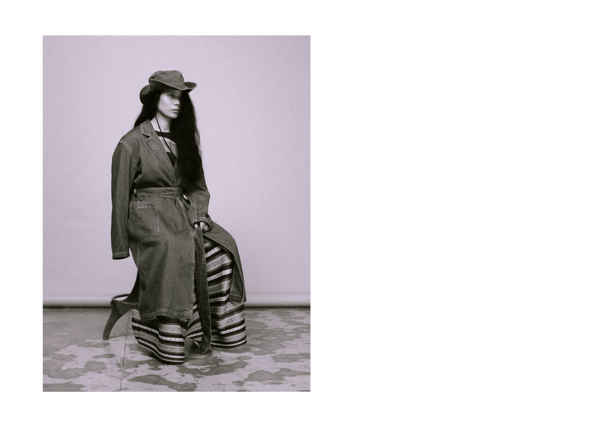 hat STYLIST'S OWN trench  LEVI'S MADE & CRAFTED seen on ZALANDO.IT  shirt and pants  PLEATS PLEASE ISSEY MIYAKE