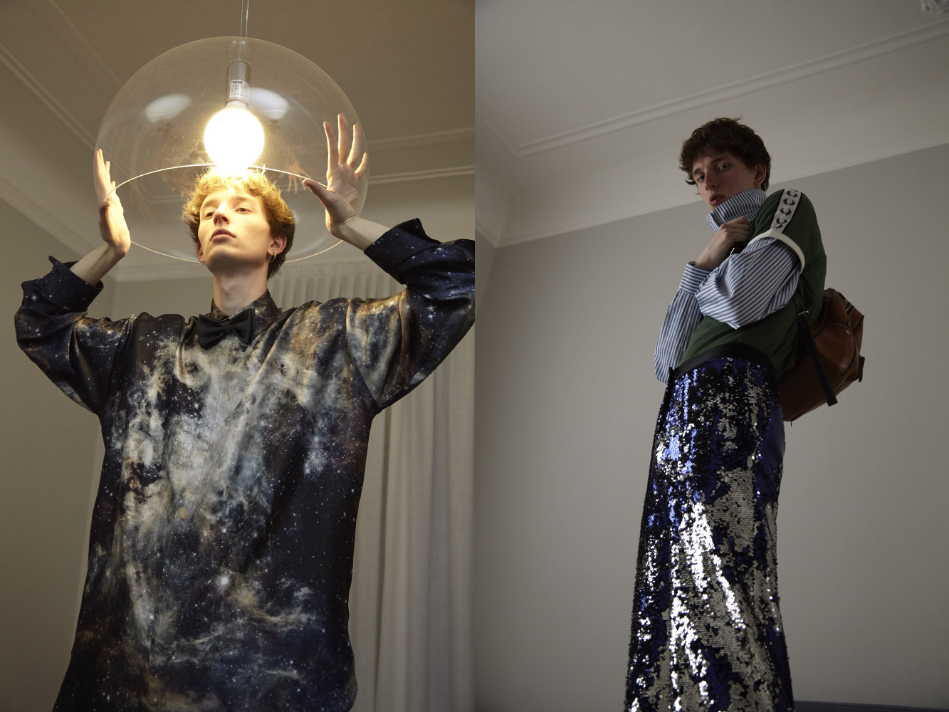 shirt  MELAMPO  bowtie  CARLO PIGNATELLI . shirt  LUCIO VANOTTI  t-shirt  FRED PERRY  pants  ACT N1