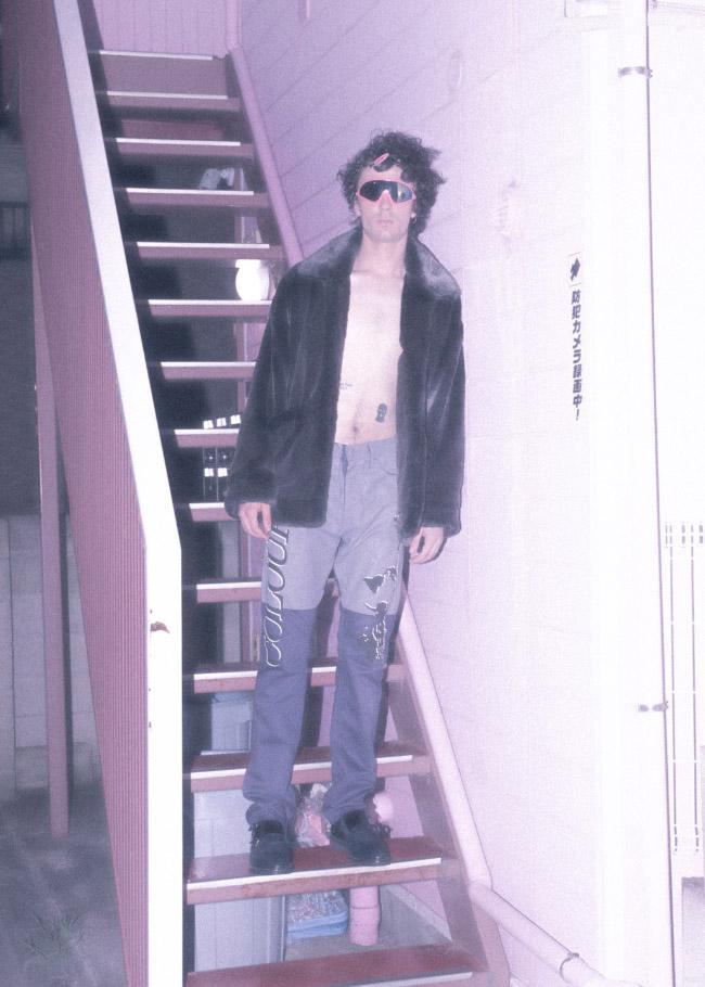 fur jacket  doublet  bottoms  D.TT.K  shoes  STYLIST'S OWN