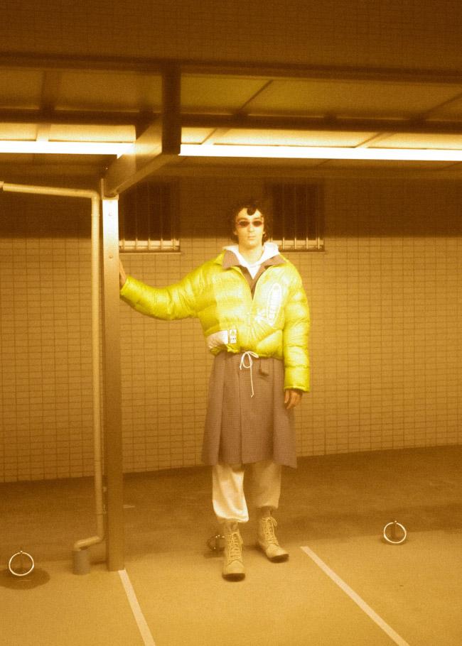 jacket  DOUBLET  coat  NEONSIGN  hoodie  ALYX  bottoms  D.TT.K  shoes  STYLIST'S OWN