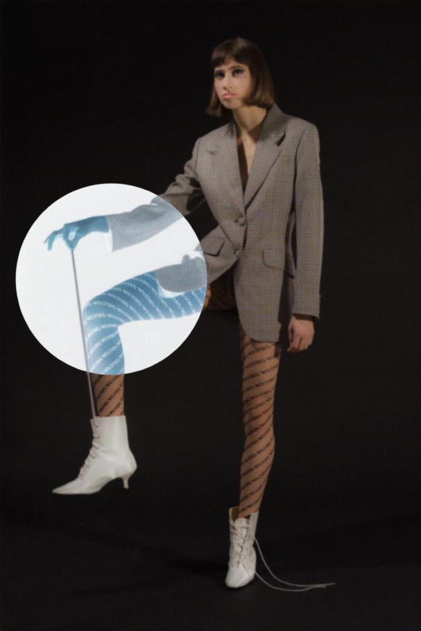 blazer  MIU MIU  tights  WOLFORD  shoes  VINTAGE  via  WOLFMICH