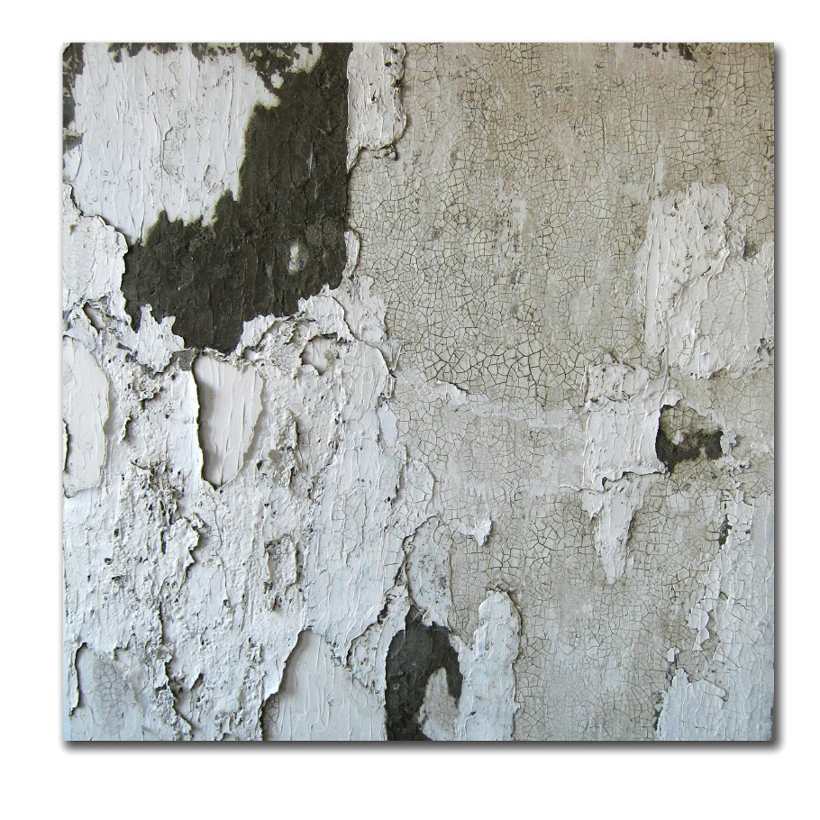 Eviction, cement on canvas
