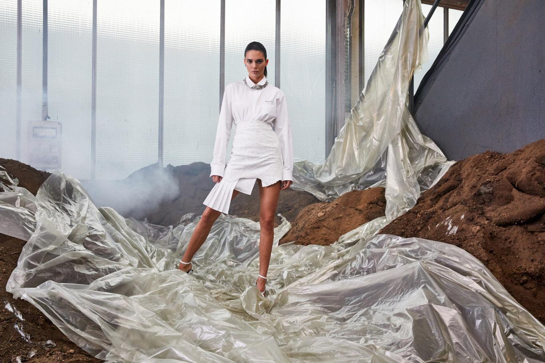 Off-White c/o Virgil Abloh womens SS19 lookbook set design SEPT. 18 Paris, France (photo Fabien Montique). On the picture: Kendall Jenner