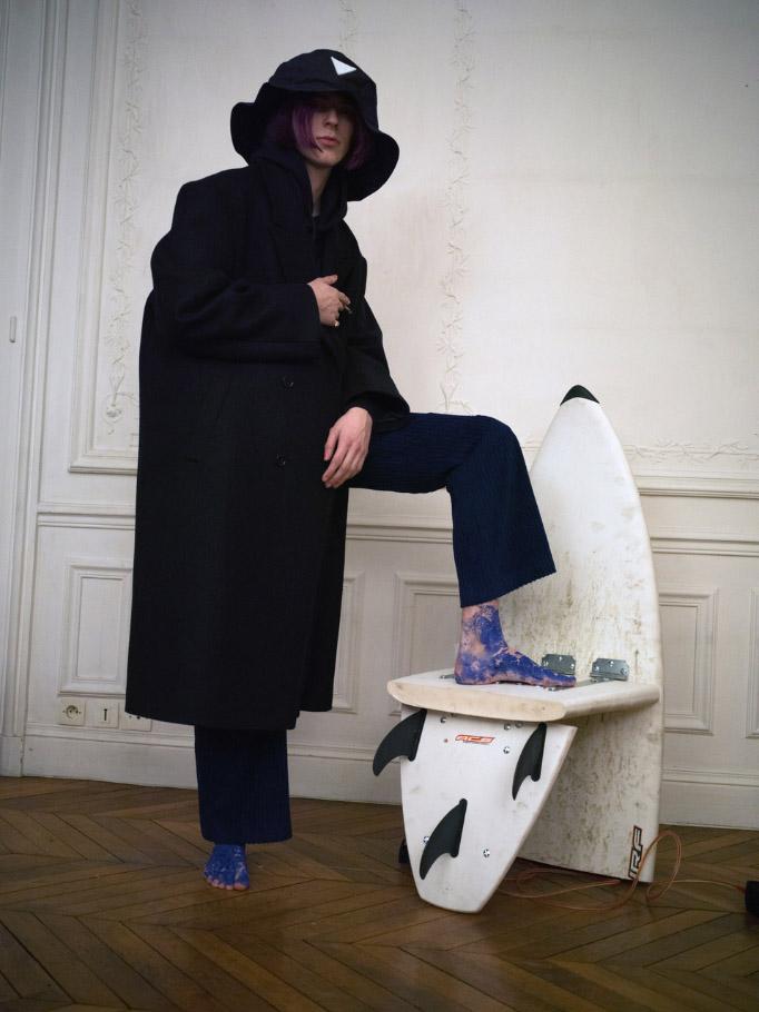 EXINFINITAS mens AW20 'Your brain is God' lookbook art direction & set design. FEB. 2019 Paris, France
