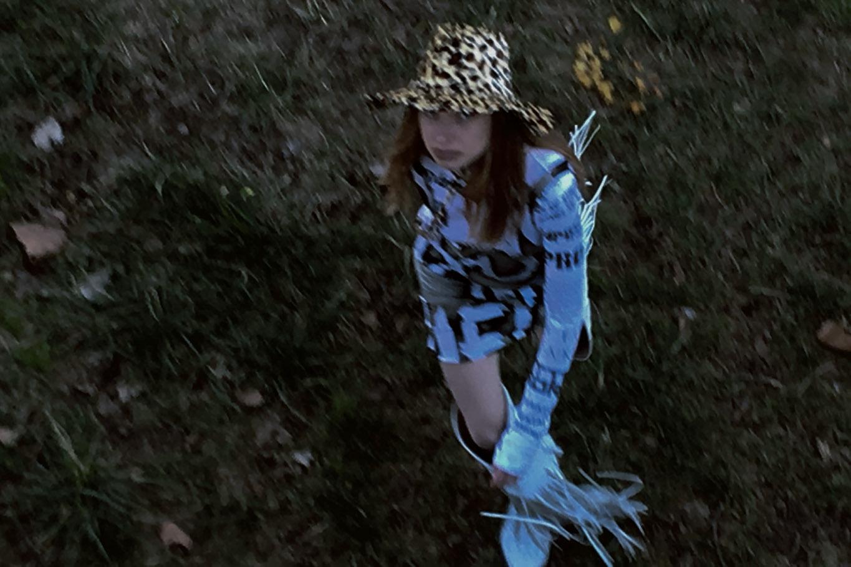 dress  HYUN MI NIELSEN  top  MOOHONG  hat  STYLIST'S OWN  boots  NEITH NYER