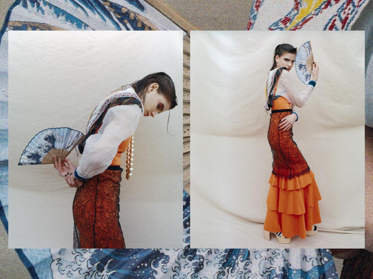 skirt & shirt   ANNA BERNAL