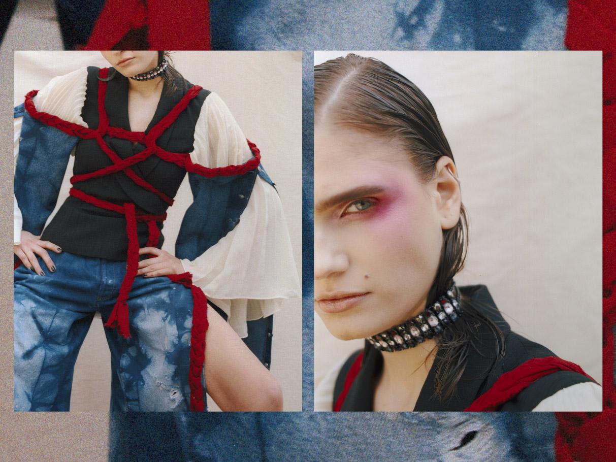 jacket   ATELIER ROSE MICHELLE   sleeves pant & belt   BLEU CHOSE
