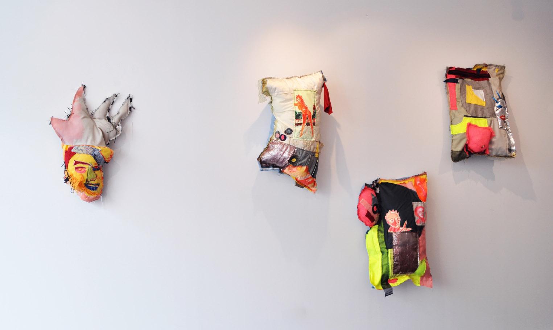 Installation shot - Philip (far left), Cross Fire, Level Complete, Satellite Dish.jpg
