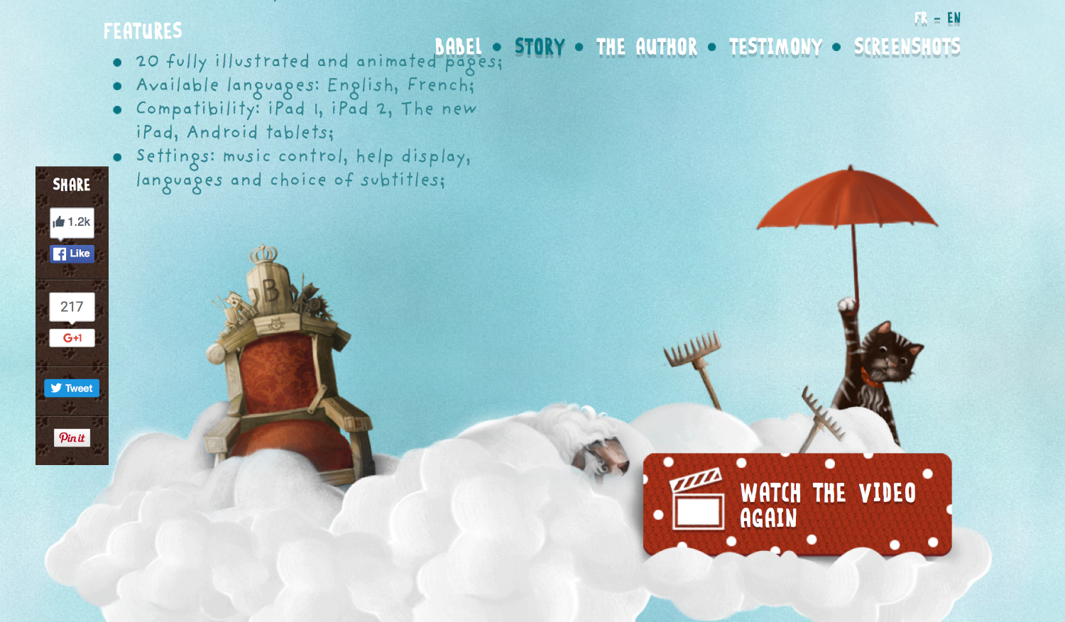 Babel-the-king-storytelling-website