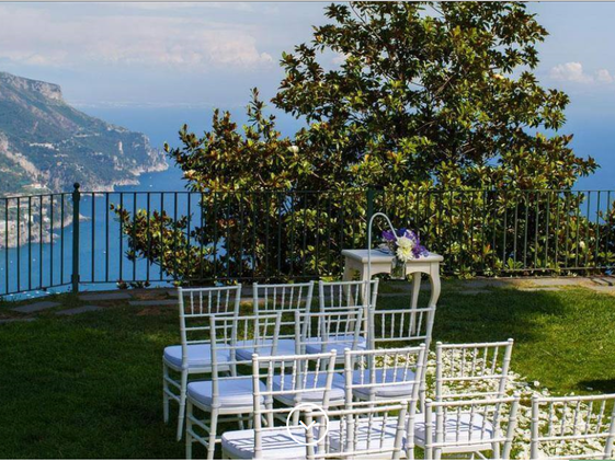 GARDENS OF PRINCIPESSA DI PIEMONTE  - Beautiful gardens of Ravello town hall for a civil ceremony with a view.Read More...