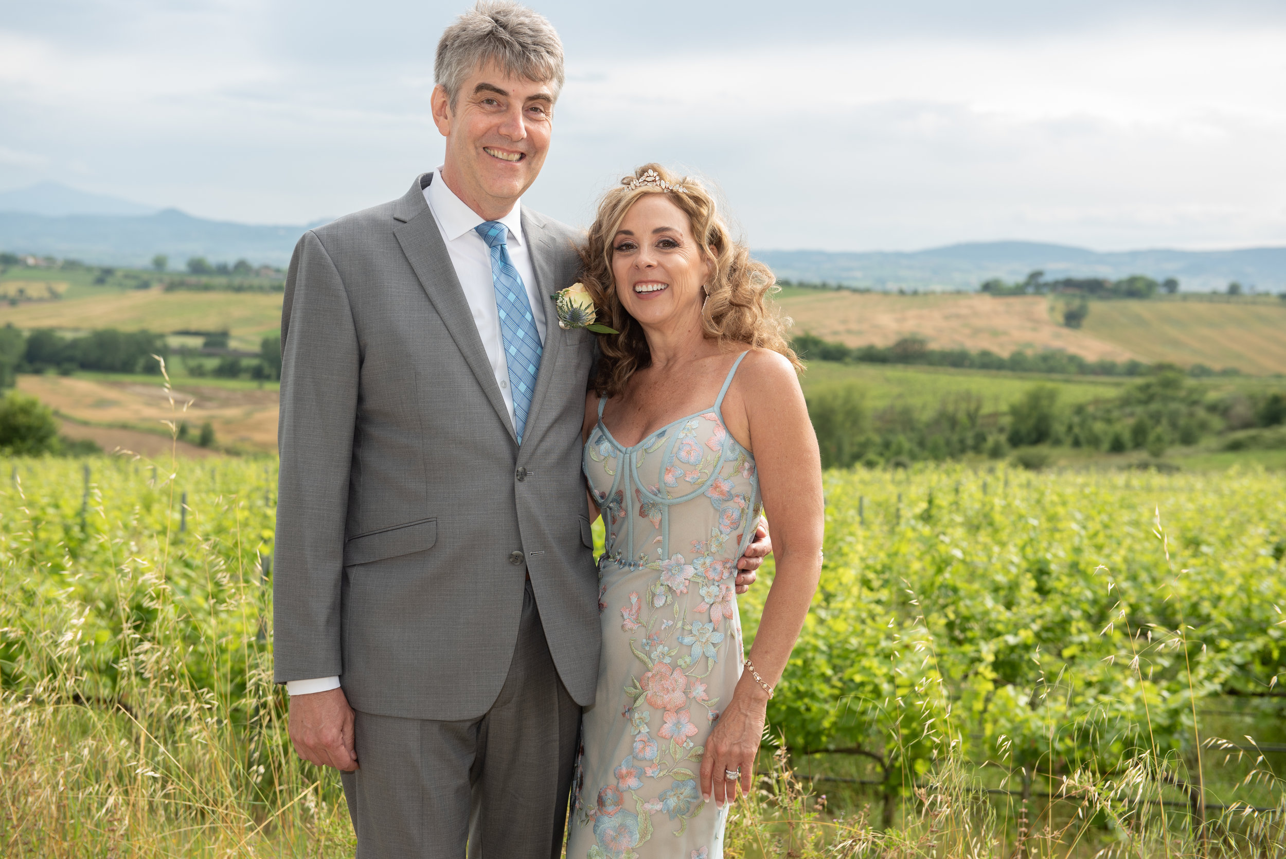 Terri & Bill, June 2018 - When you plan a wedding in another country (Italy), on a different continent, with different time zones and languages and use a wedding planner from yet a completely different country (UK) than where you are having the wedding, you really are testing the hands of fate.Our planning, from day 1, was nothing if not seamless. One thing that relieved my bridal stress was how attentive and prompt Emily was throughout the planning. Every email was returned and every silly question I asked was answered.Our Tuscan wedding was a glorious day that will live in our hearts forever.Don't be afraid to follow your dream and have a destination wedding. Having someone else take care of everything is a God-send. We are blessed, married and happily enjoying our life together as husband and wife in New Mexico. Far away from Italy, but we will have the memories forever.Thank you Emily and Annie for making our big day breathtaking.All our love, Terri & Bill