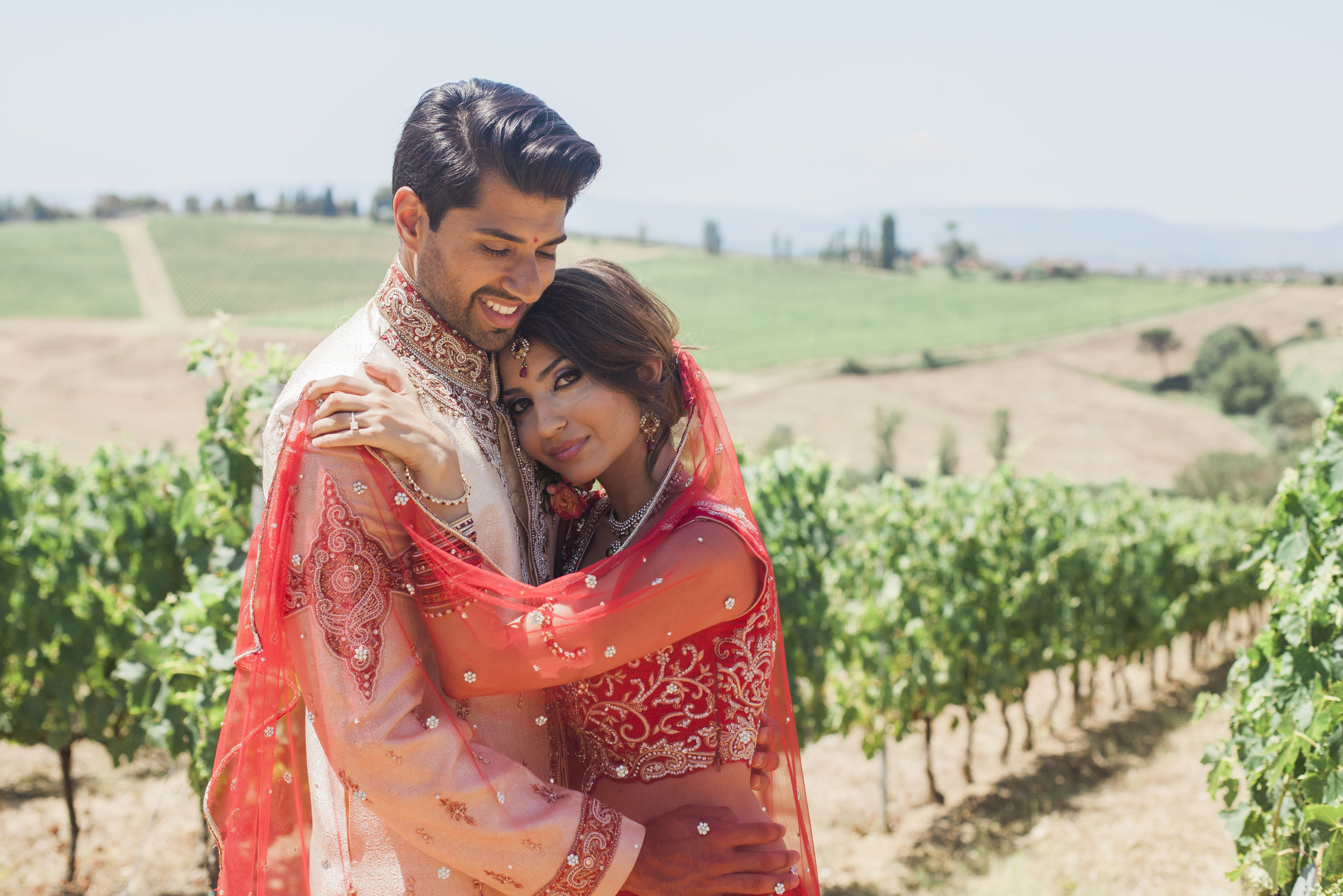 Hiren & Priyanka, July 2016 - We contacted Emily in November 2015 to help us plan a wedding in Italy for July 2016. From the outset, Emily was diligent, conscientious and really took into consideration our wishes for our 'dream' wedding as well as our budget! Emily was meticulous in her planning, to the point that on the day, the wedding went completely smoothly and we could just relax and take in the day.The wedding was truly wonderful – Emily found us a perfect venue and picked great vendors, from the flower arrangers to the photographers. She even brought the sun! We couldn't have asked for a better wedding and we'll never forget our wonderful wedding day.