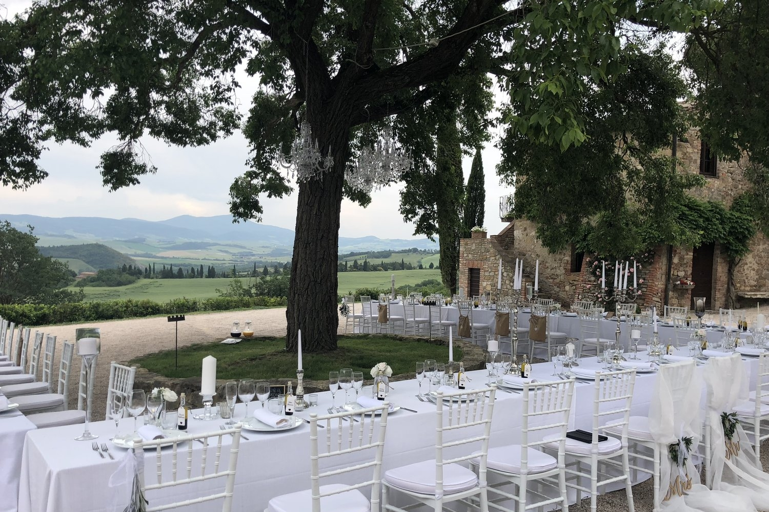 Borgo di Castelvecchio, Siena - A collection of 9 apartments with accommodation onsite for 64 people. Villa Gino has beautiful countryside views which make the perfect wedding backdrop.Read More...