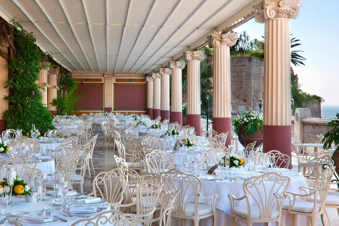 Hotel Rita, Sorrento - A stunning 5* hotel with beautiful decor throughout and a large, well-designed terrace for a reception over-looking the sea.Read More...