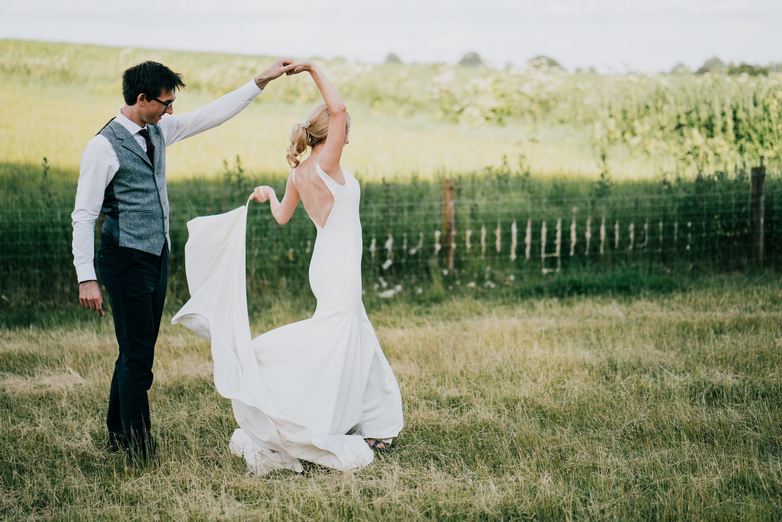 Christina & Dominic, June 2019 - We were planning an Italian themed wedding in the English Countryside (Cotswolds, Gloucestershire) so when I came across Emily online I thought she'd be perfect to help make our dream become a reality. We planned the wedding ourselves and hired Emily as our on-the-day coordinator to keep everything running smoothly. During the planning stages Emily was always on hand to help with any questions we had and to offer advice with things like timings for a 4 course meal or photos which was really helpful. We met at the venue 6 weeks before and I knew we'd made the right choice as Emily took control and asked the venue all the questions I wouldn't have thought of.We didn't want to stress about timings and coordinating things on the day and with a dry hire venue and numerous suppliers this was always going to be difficult. From the moment Emily arrived on the day I didn't have a thing to worry about. She was always there checking that we were all happy and coordinating everything to such precision that the entire day went perfectly. I felt such relief knowing that I could just relax and everything was in hand. Emily is not only highly professional and amazing at her job but just a lovely, smiley person to have as part of your wedding team. We couldn't recommend her highly enough whether you are planning a wedding in Italy or in the UK. You definitely won't regret it!