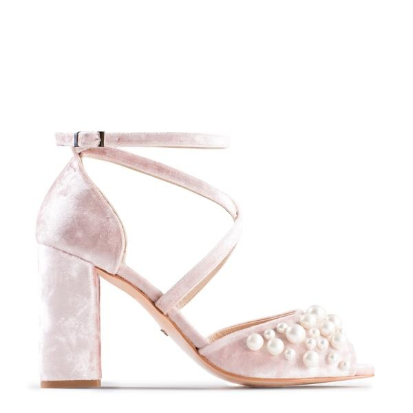 Henrietta Blush by Charlotte Mills - What's not to like? These shoes are so cute and are a bit of fun too! Plus they could totally be worn again after your wedding day.Available for £280 at https://charlottemills.com/collections/wedding-shoes/products/henrietta-blush