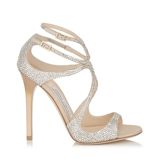 Lance by Jimmy Choo - If you want a shoe that makes as much of a statement as your dress, then this very pretty pair from Jimmy Choo have to be the one.Available for £1,295 at https://www.jimmychoo.com/en/bridal-boutique/bridal-collections/bride/lance