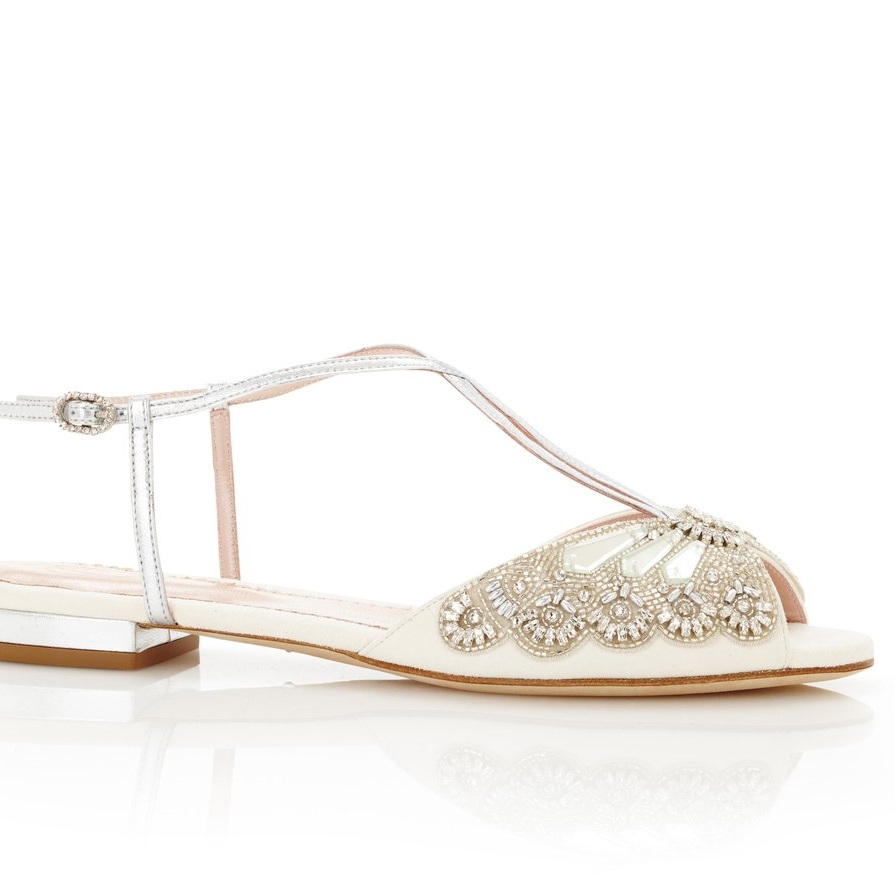 Jude Silver by Emmy London - If you're not a heel kinda girl, or you want comfort on your wedding day then these pumps from Emmy are the ideal option.Available for £525 at https://www.emmylondon.com/collections/bridal/products/jude-silver?variant=11884279303