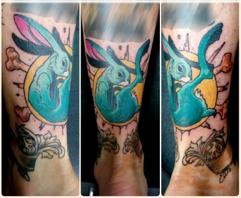 Hare Tattoo New School Tattoo Morden