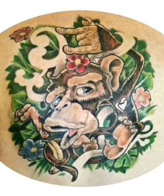 New School Monkey Tattoo Morden