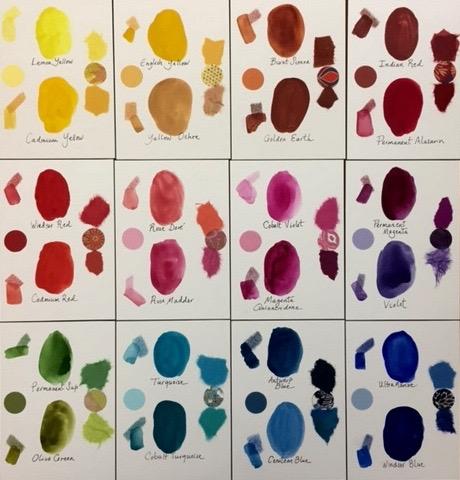 Watercolor Palette 12 Panels