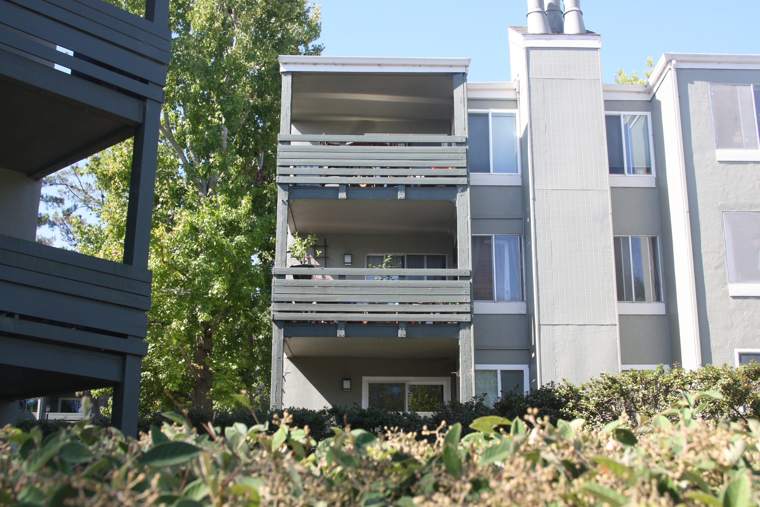 SOLD:  4008 Farm Hill Blvd #101, Redwood City  Contemporary condo in a quiet complex  Offered at $559,000