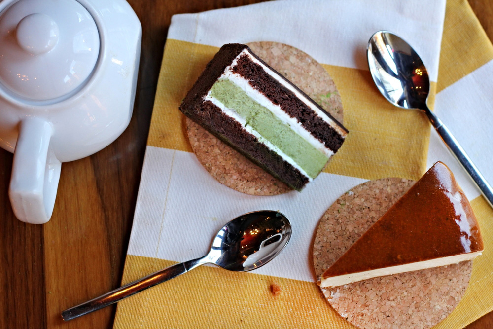 Green Tea Forest Cake / Cheesecake