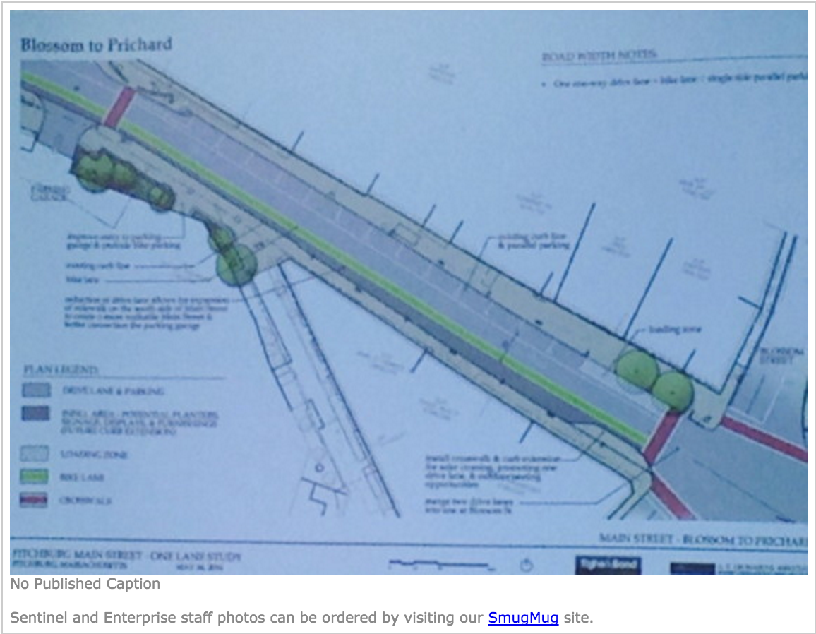 FITCHBURG -- Two years ago, City Councilor Joel Kaddy first proposed a single-lane Main Street as a way to make pedestrians and bicyclists safer, traffic slower and downtown more business-friendly...  Read more here!