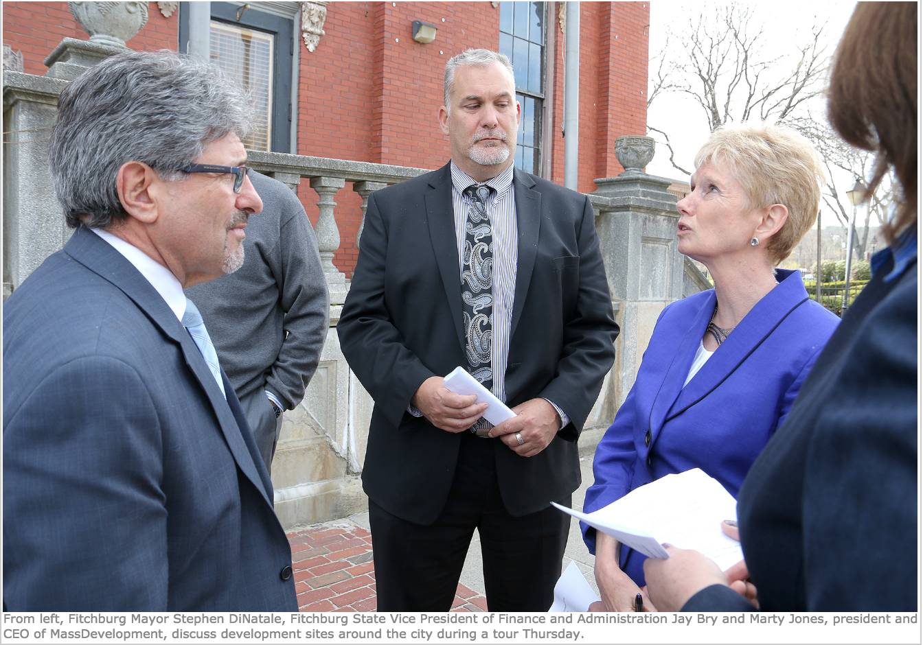 FITCHBURG -- Last Thursday, Mayor Stephen DiNatale and Mary Jo Bohart, Fitchburg's director of economic development, led representatives from MassDevelopment on a tour of development sites in the city...   Read more here!
