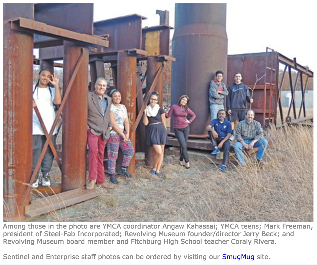 FITCHBURG -- The Revolving Museum's Mobile Art Program offers collaborative public art education that will energize young people to believe they can play a meaningful role in the creation of a more beautiful, cleaner, healthier, safer and more vibrant neighborhood...   Read more here!