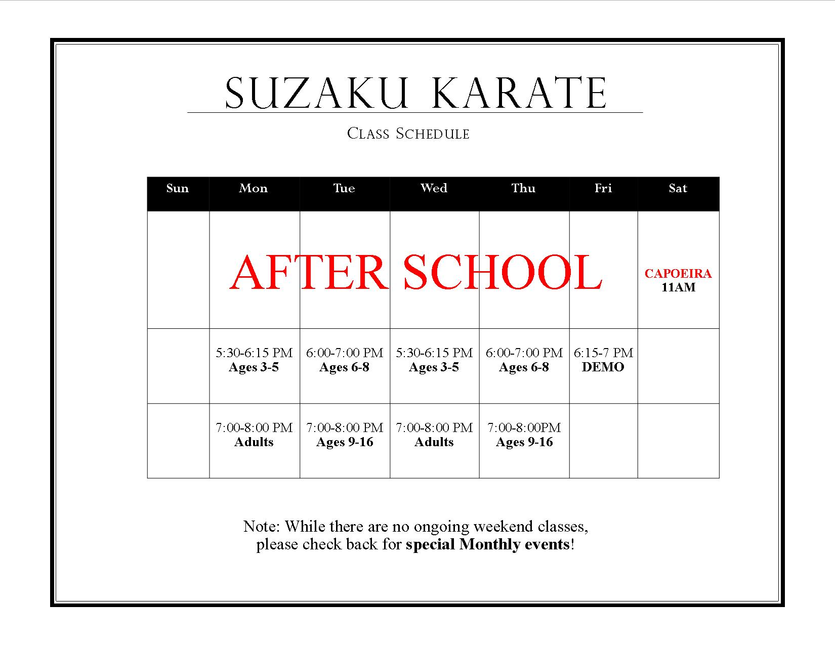 Suzaku Karate Class Schedule AFTER SCHOOL 2017-18 JPG.jpg