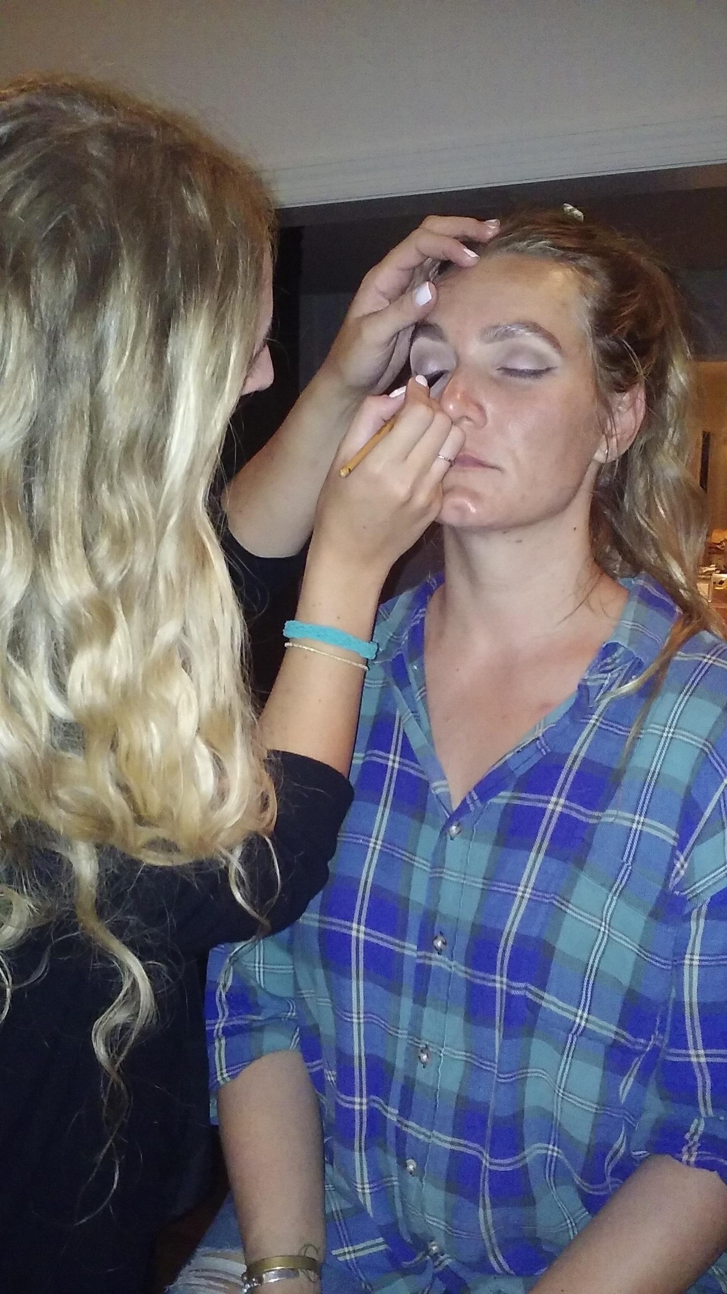 Preparing artist for Makeup, CMA, Chris Stapleton, New Artist of the Year