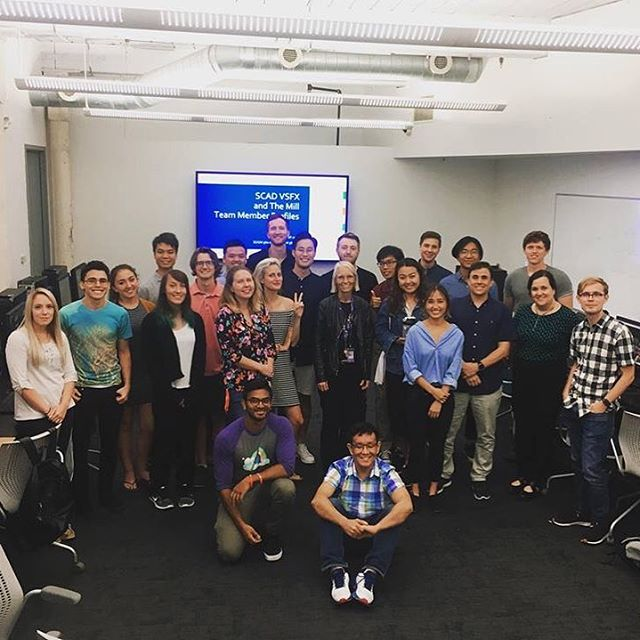 Every year I get the amazing opportunity to collaborate with the students at SCAD.  Along with my colleagues @cgulacsy @bijang2086 and #toddakita we collaborate with @scaddotedu in a mentorship program. We kick off the class at the beginning of the quarter in Savannah and then every week for 10 weeks we video conference in from NY and mentor the students' ideas and critique their work. It's a great chance to give back to the College that gave so much to me. Thank you to Prof. Gaynor and Prof. Fowler for giving us the opportunity for the third year in a row, can't wait for this quarter! 📷 @arfstudios . . . #scad #scadsavannah #visualeffects #themill @millchannel @mill_ny #vfx #collaboration #SCADvsfxAndTheMill #scadalumni #scadvsfx