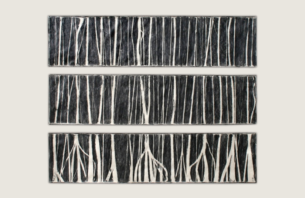 Burnt Panel Triptych No. 26 Frottage