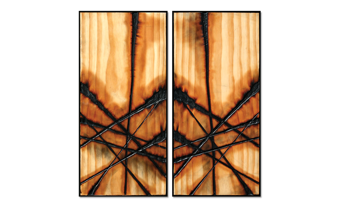 Burnt Panel Diptych No. 26