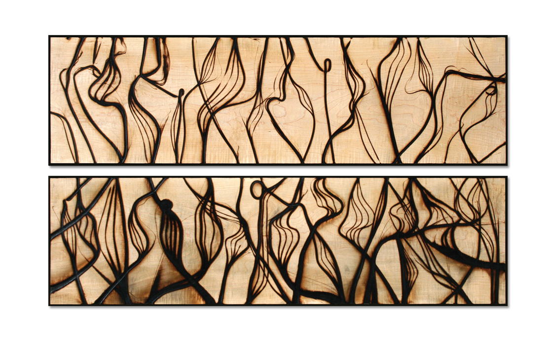 Burnt Panel Diptych No. 29