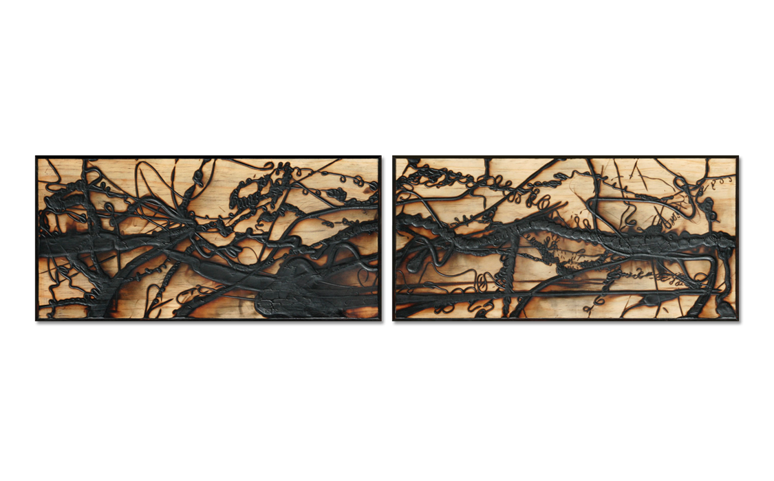 Burnt Panel Diptych No. 24