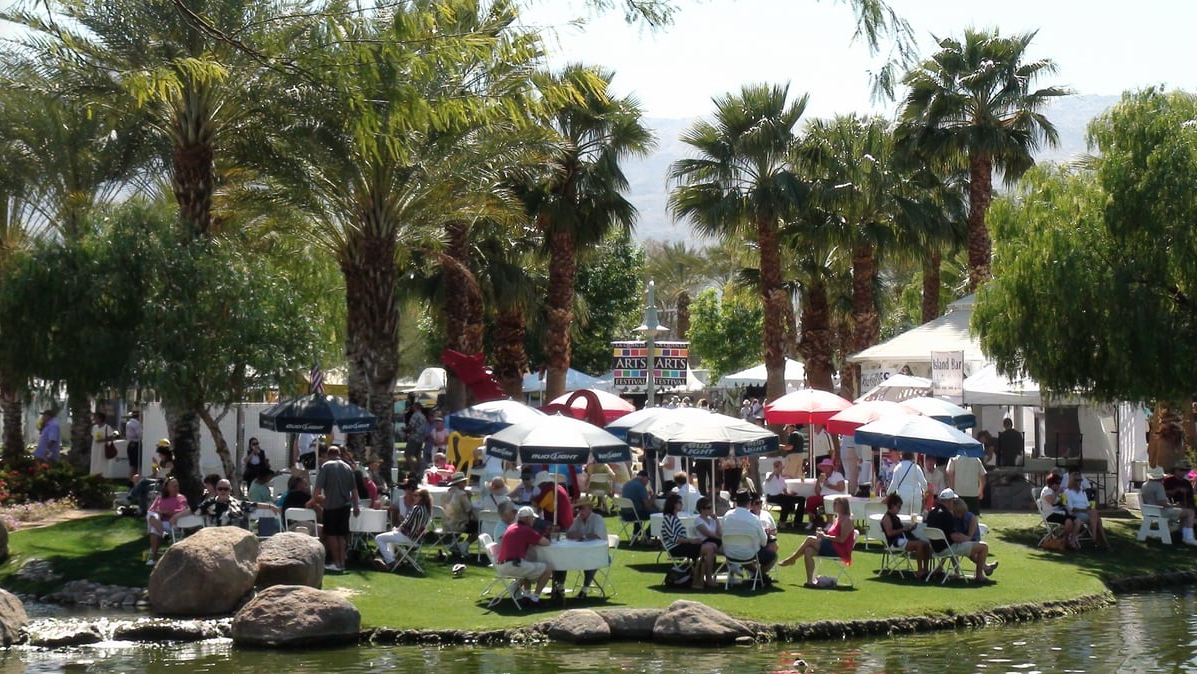 Festival takes place amongst a beautiful outdoor setting featuring 220 artist booths.