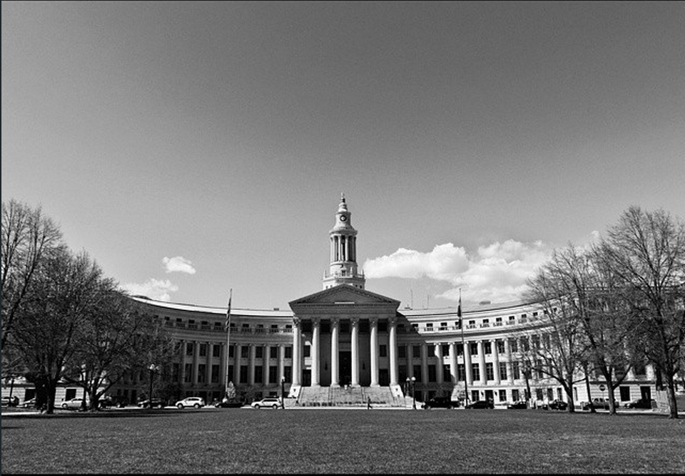 """""""-monotone judiciary- Yet another historic landmark in Denver; an ode to grand, neo-classical architecture."""""""