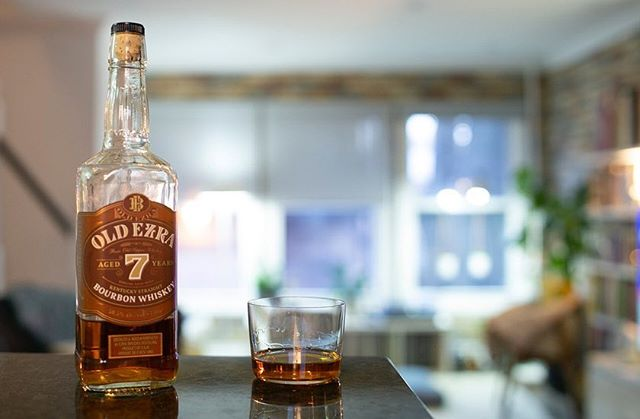 Bourbon tonight is Old Ezra 7. 101 proof, although you wouldn't know it.