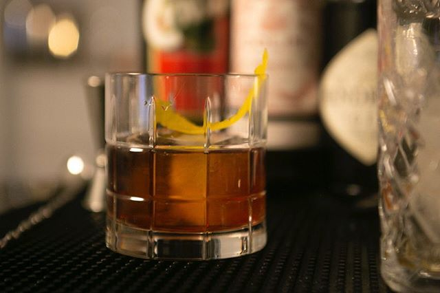This is a Cynar Negroni, where the Campari is replaced with the amaro made from artichoke and herbs - Cynar.