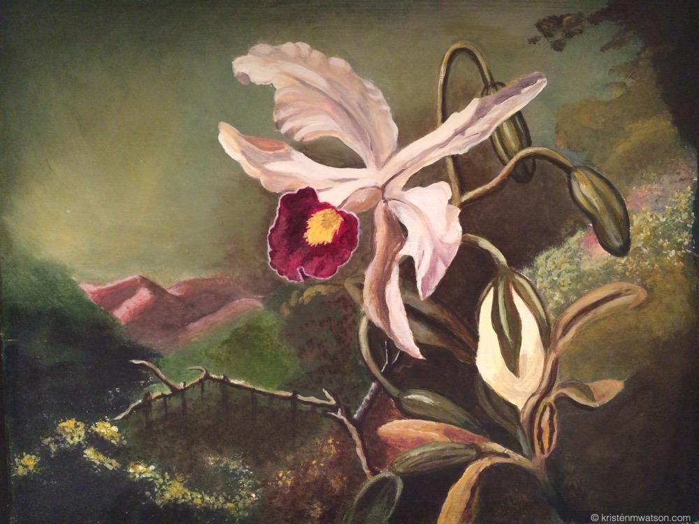 Orchid after Heade_2014_Acrylic on Board_10.5x13.75in_©2015 kristenmwatson 2.jpg