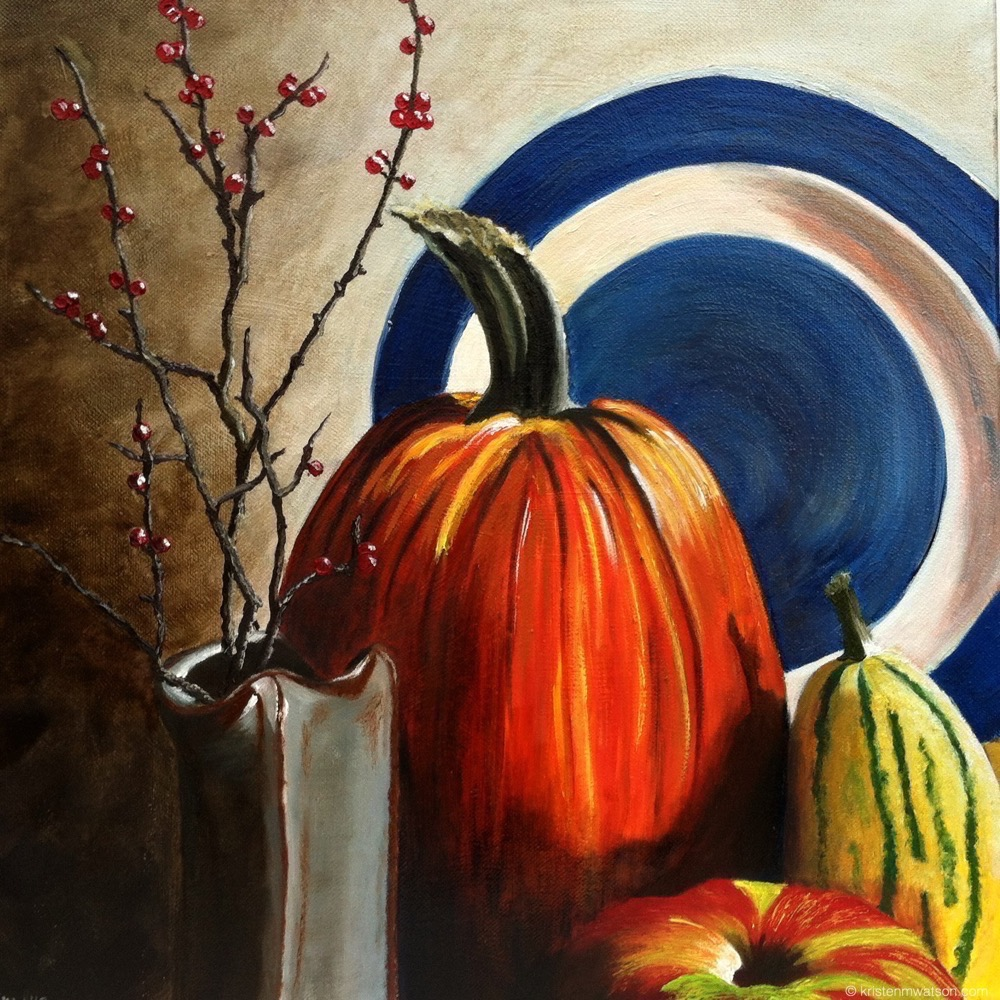 Pumpkin Still Life_2012_Oil on Canvas_16x16in_©2015 kristenmwatson 2.jpg