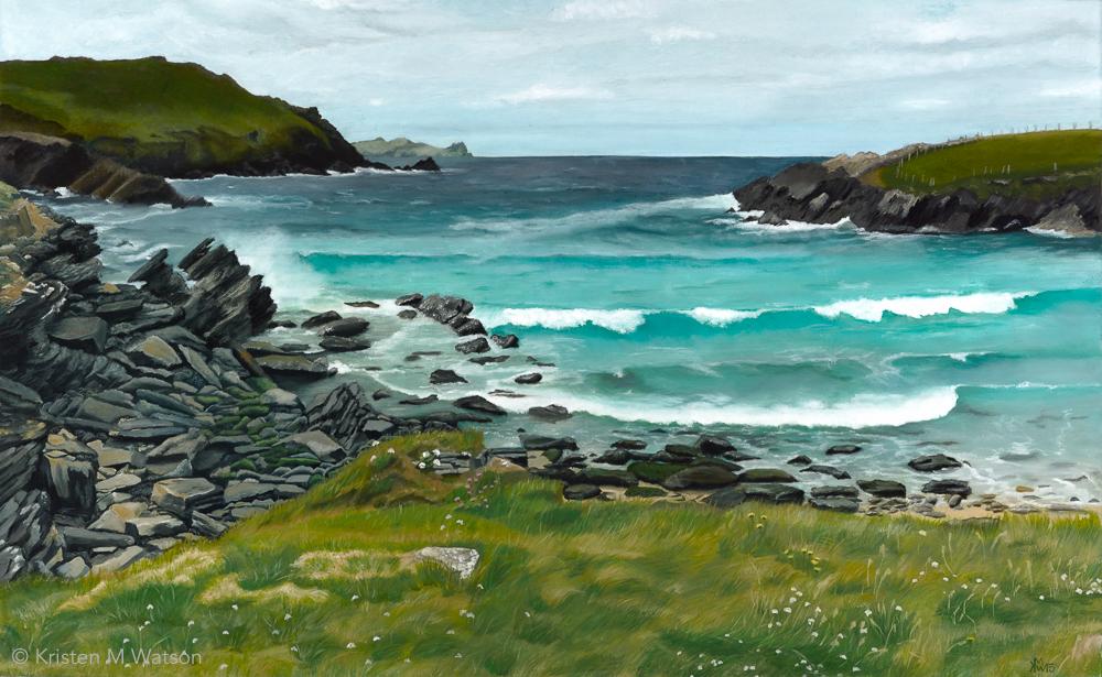 Irish shore_oil on canvas_24x39_©2015 kristenmwatson.jpg