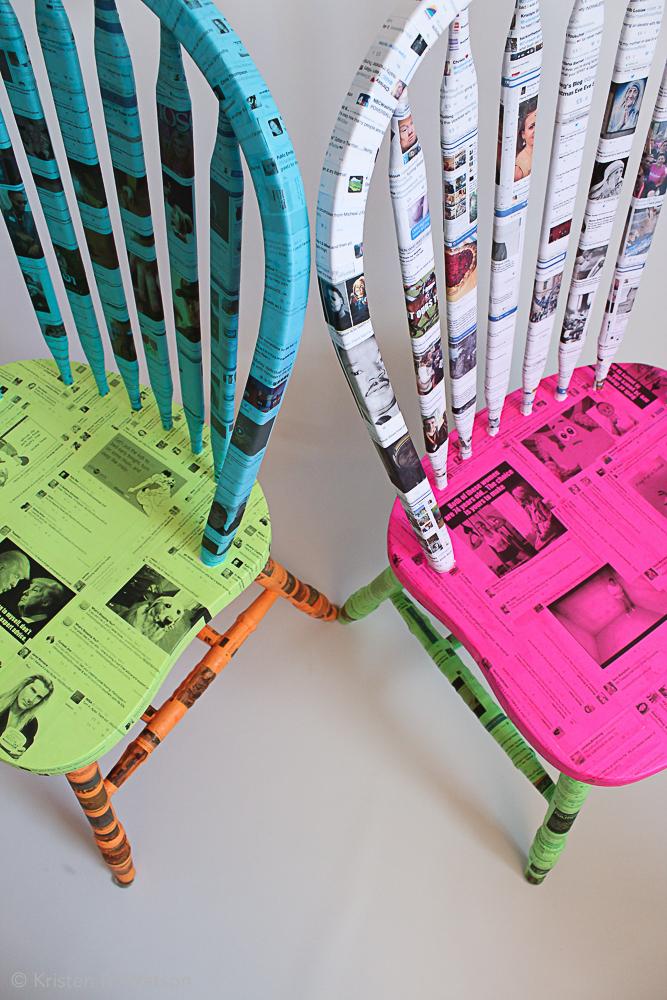 Feed_Hardwood chairs, adhesive, social media feed printed paper, 2016, kristenmwatson-4.jpg