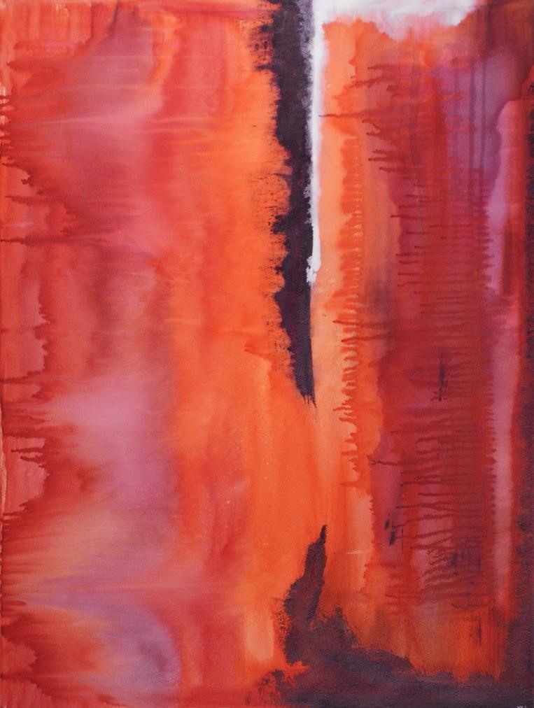 Untitled (white bleed), acrylic on canvas, 30 x 40 in. ©2016 kristen m. watson .jpg