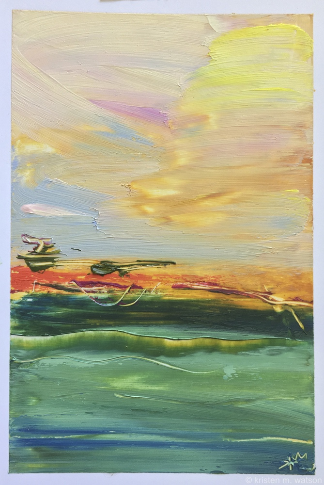 Horizon Crimson I_sequencia_2018_oil on paper_©2018kristenmwatson.jpg